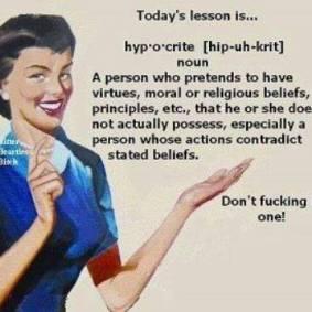 hypocrite and religion